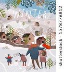 winter holiday. vector... | Shutterstock .eps vector #1578776812