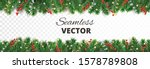 seamless christmas decoration... | Shutterstock .eps vector #1578789808