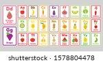 cute kawaii fruits and... | Shutterstock .eps vector #1578804478