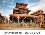 One of many temples in Bhaktapur, Kathmandu Valley, Nepal.