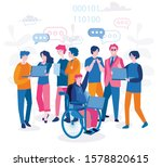 disabled people productive work ... | Shutterstock .eps vector #1578820615