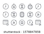 time and clock related line... | Shutterstock .eps vector #1578847858