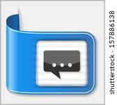 abstract icon of a speech bubble