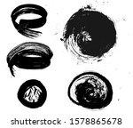 set of circle vector brush... | Shutterstock .eps vector #1578865678