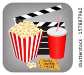 cinema   drink  popcorn and... | Shutterstock .eps vector #157887962