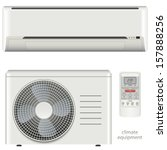air conditioner system set | Shutterstock .eps vector #157888256