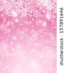 Pink Background With Snowflake...