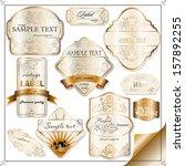 set of vintage labels for wine... | Shutterstock .eps vector #157892255
