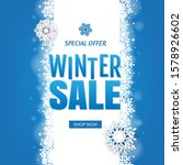 sale blue winter banner with...   Shutterstock .eps vector #1578926602