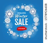winter sale card with white...   Shutterstock .eps vector #1578926608