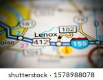Lenox. Tennessee. USA on a geography map
