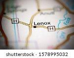 Lenox. Missouri. USA on a geography map