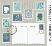 Elegant Vintage Postage Stamps...