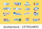 washing clothes stickers set.... | Shutterstock .eps vector #1579014892