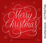 merry christmas greetings... | Shutterstock .eps vector #157903766