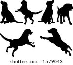Stock vector dog silhouettes vector 1579043