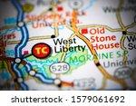 West Liberty. Pennsylvania. USA on a map