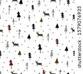 winter graphic seamless pattern ... | Shutterstock .eps vector #1579076935