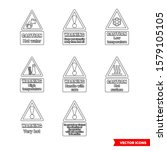 food safety hazard signs icon... | Shutterstock .eps vector #1579105105