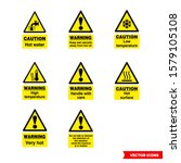 food safety hazard signs icon... | Shutterstock .eps vector #1579105108