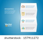 infographics paper with icons... | Shutterstock .eps vector #157911272