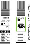 Sticky Baggage Label With Jfk...