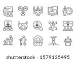 set of flat icons about people  ... | Shutterstock .eps vector #1579135495