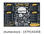 grill bbq menu template on... | Shutterstock .eps vector #1579143358
