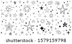 stars doodle set. hand drawn... | Shutterstock .eps vector #1579159798