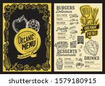 organic menu template for... | Shutterstock .eps vector #1579180915