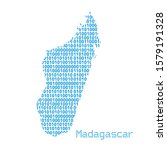 map of madagascar from binary... | Shutterstock .eps vector #1579191328