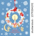 greeting christmas craft card... | Shutterstock .eps vector #1579204192