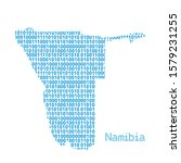 map of namibia from binary code ... | Shutterstock .eps vector #1579231255
