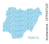 map of nigeria from binary code ... | Shutterstock .eps vector #1579247125