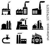 power plants  nuclear plants ... | Shutterstock .eps vector #157925375