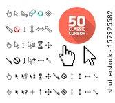 classic cursor pack. vector...   Shutterstock .eps vector #157925582
