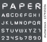 vector font alphabet paper | Shutterstock .eps vector #157935356