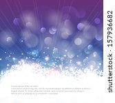 vector winter bokeh background... | Shutterstock .eps vector #157936682