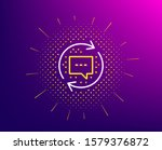 update comments line icon.... | Shutterstock .eps vector #1579376872