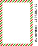 diagonal red and green bands...   Shutterstock . vector #1579381492