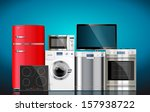 kitchen and house appliances ... | Shutterstock .eps vector #157938722