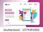 doctor stand near health... | Shutterstock .eps vector #1579391002