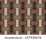 javanese batik pattern  set a1... | Shutterstock . vector #157939676