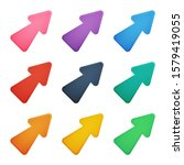colorful cursor arrows set....