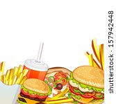 group of fast food products. | Shutterstock . vector #157942448