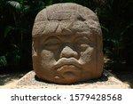 Colossal Head  Olmec Mexican...