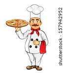 chef with pizza | Shutterstock . vector #157942952