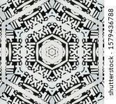 monochrome abstract... | Shutterstock . vector #1579436788