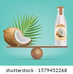 compare coconut and balance... | Shutterstock .eps vector #1579452268