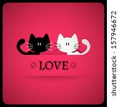 valentine card with cute cats